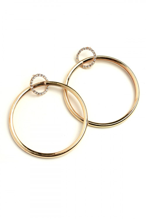 A2-1-3-LKE66878 STONE HOOP EARRINGS/12PCS