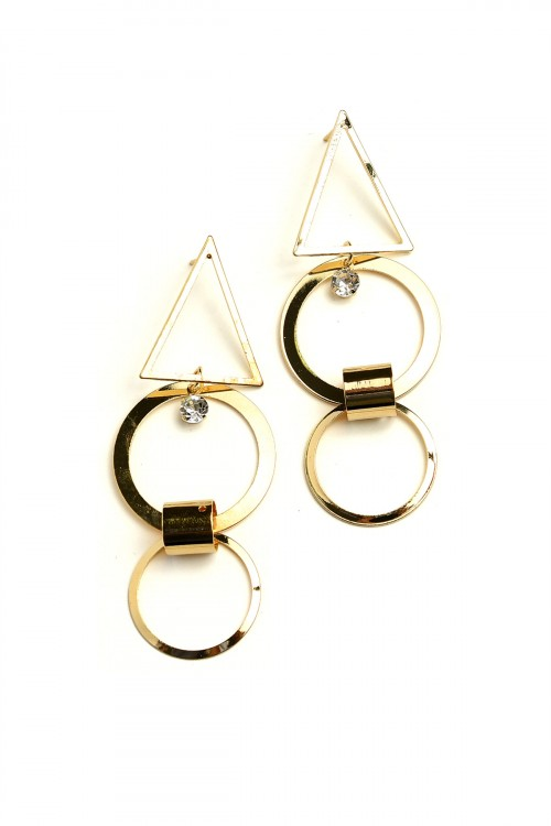 A1-3-1-ER5491 DOUBLE HOOP SHAPE DROP EARRINGS/12PCS