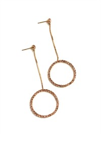 205-2-3-RER0347R6 HOOP STONE DESIGN DROP EARRINGS/12PCS