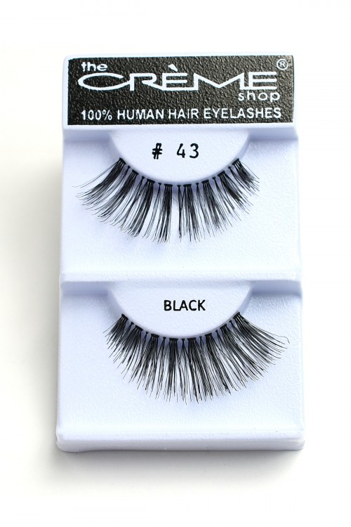 237-H-#43 THE CRME SHOP EYELASHES/12PCS