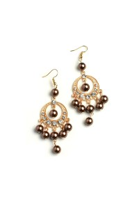 202-2-3-RER0526R6 MULTI PEARL & STONE DROP EARRINGS/12PCS