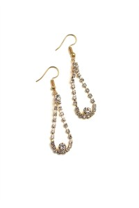 204-3-2-ANE4041 TEAR DROP STONE EARRINGS/12PCS