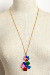 205-4-3-ANN2003 DOUBLE FLOWER NECKLACES/12PCS
