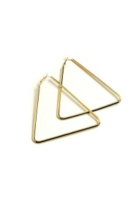 206-1-3-PER7280GD TRIANGLE SHAPE HOOP EARRINGS/12PCS
