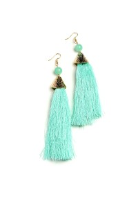 206-1-3-ME17536 GEM TASSEL DROP EARRINGS/12PCS