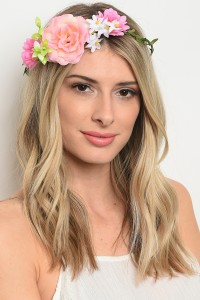 206-4-1-HWP2608 ASSORTED FLOWER HEADWRAP/12PCS