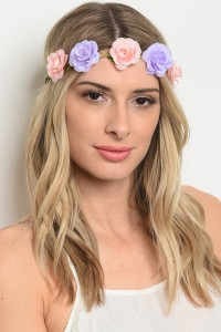 206-4-2-HWP2521 ASSORTED FLOWER HEADWRAP/12PCS