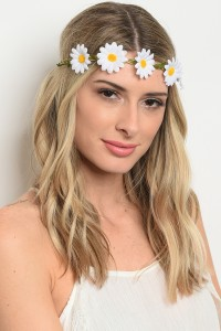 206-4-2-HWP2373 ASSORTED FLOWER HEADWRAP/12PCS