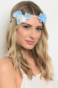 206-2-3-HR4140 ASSORTED FLOWER HEADWRAP/12PCS