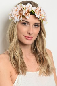 207-1-1-HR696RE ASSORTED FLOWER HEADWRAP/12PCS
