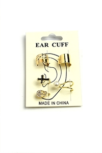 205-1-4-AE2742 MULTI SHAPE CUFF EARRINGS/12PCS