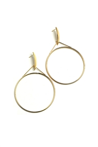 205-1-2-AE2993 HOOP DESIGN EARRINGS/12PCS