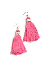 205-3-3-ER4989 TASSEL DROP EARRINGS/12PCS