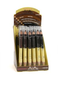197-4-4-AEP300 KLEANCOLOR ARCH ALLY DOUBLE ENDED BROW PENCIL/36PCS