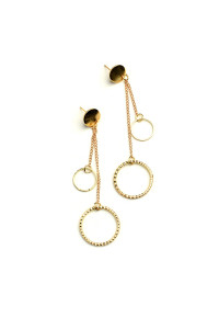 221-2-4-JAE28965 DOUBLE HOOP DROP EARRINGS/12PCS