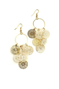 205-4-4-JAE28843 MULTI DESIGN DROP EARRINGS/12PCS