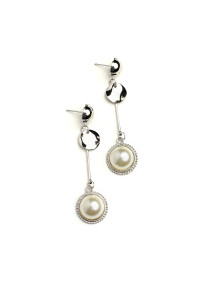 205-3-4-JAE28716 DOUBLE PEARL DROP EARRINGS/12PCS