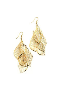 205-3-3-JAE28839 MULTI LEAF SHAPE EARRINGS/12PCS