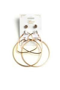 204-3-5-ANE4097 3SET MIXED HOOP CARD EARRINGS/12PCS