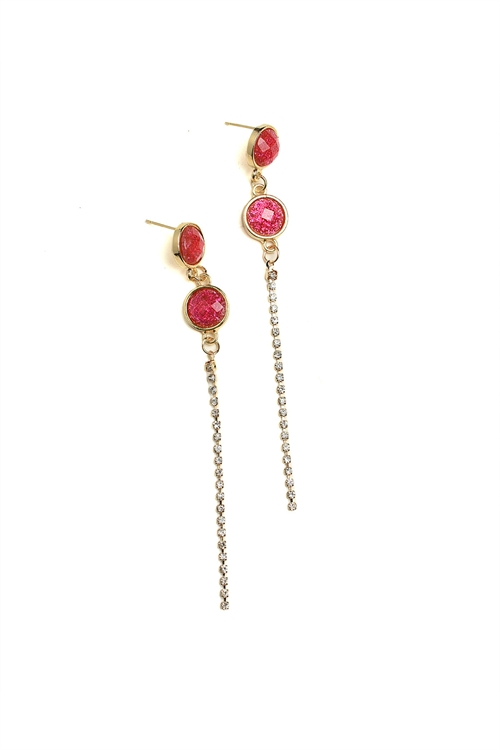 A2-3-4-ER6065 MULTI STONE DROP EARRINGS/12PCS
