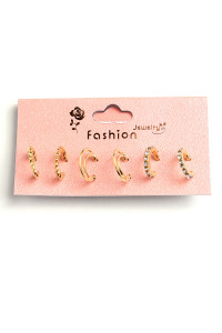202-4-5-ER5950 TRIPLE DESIGN EARRINGS/12PCS