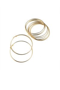 203-4-2-ER5371 HOOP EARRINGS/12PCS