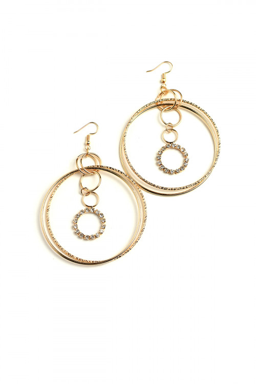 203-4-4-ER5927 MULTI HOOP DESIGN DROP EARRINGS/12PCS
