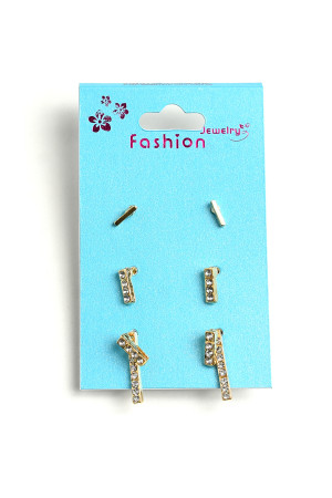 A1-2-1-ER5949 STONE DESIGN EARRINGS/12PCS