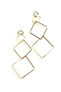 202-1-2-ER5923 TRIPLE SQUARE DESIGN DROP EARRINGS/12PCS