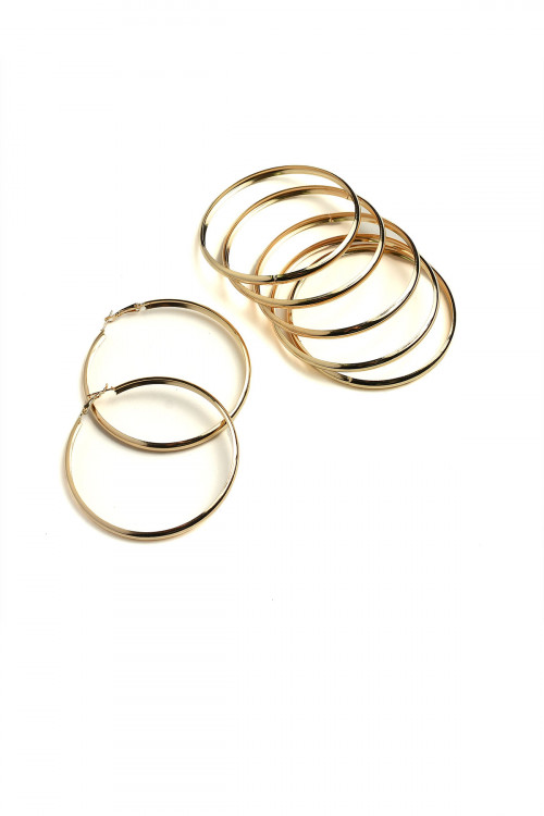 202-1-5-ER5372 HOOP EARRINGS/12PCS