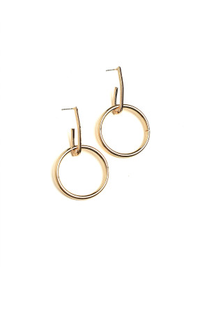A1-1-2-AE3019 HOOP DESIGN EARRINGS/12PCS