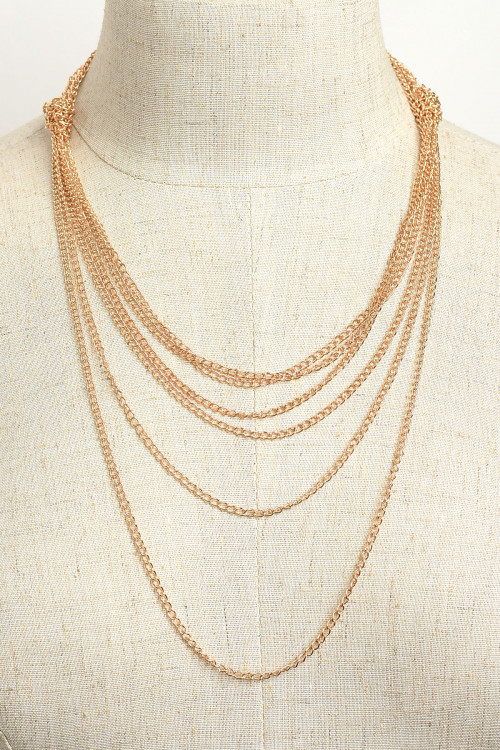 203-3-2-NLC4226 MULTI CHAIN NECKLACES/12PCS