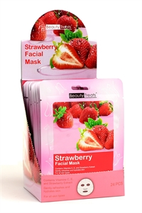 211-1-3-203S STRAWBERRY FACIAL MASKS/24PCS