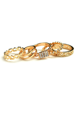 204-2-2-IRI448 MULTI LAYER STONE RINGS/12PCS