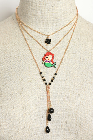 A2-3-1-NE6341 MERMAID DOLL NECKLACES/12PCS