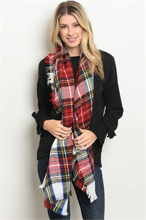 A3-3-4-SP4493 ASSORTED CHECKERED SCARF/12PCS
