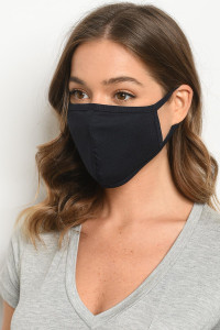 S11-2-2-MPL563 NAVY REUSABLE FACE MASK FOR ADULTS/5PCS
