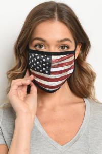 S10-20-2-MAF514 AMERICAN FLAG REUSABLE FACE MASK FOR ADULTS/10PCS