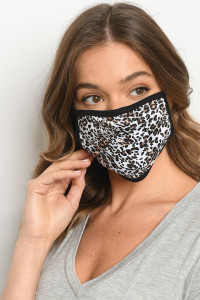 S10-20-2-MLEO514 LEOPARD PRINT REUSABLE FACE MASK FOR ADULTS/10PCS
