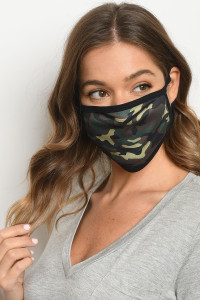 S15-9-2-MCAM516 CAMOUFLAGE PRINT REUSABLE FACE MASK FOR ADULT/10PCS