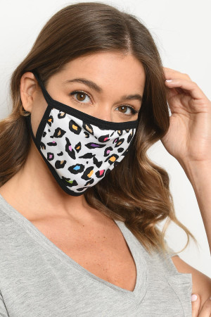 S15-12-3-MDA516 DALMATIAN PRINT REUSABLE FACE MASK FOR ADULT/10PCS