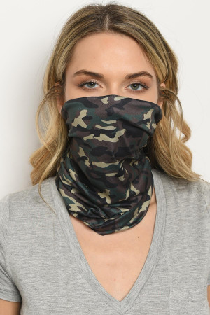 S18-1-2-SLEEVE529 ARMY CAMOUFLAGE REUSABLE FACE COVER FOR ADULT/5PCS