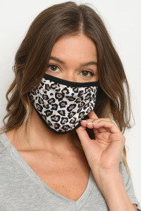 S18-1-1-MCH62 CHEETAH PRINT REUSABLE FACE MASK FOR ADULT/10PCS