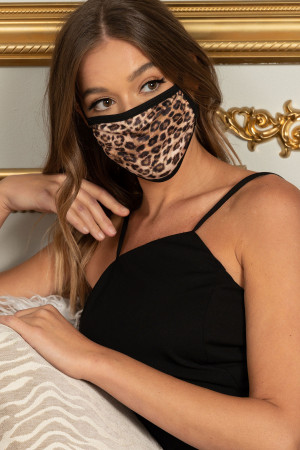 S18-2-2-MLEO62 LEOPARD PRINT REUSABLE FACE MASK FOR ADULT/10PCS