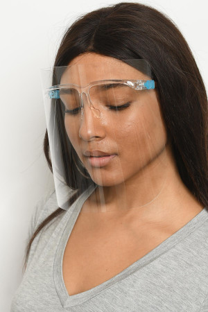 A3-1-1-FSWG710 CLEAR FACE SHIELD WITH GLASSES/10PCS
