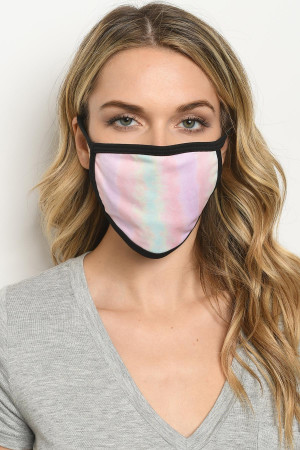 S16-7-2-MTDMT723 MULTI TIE DYE REUSABLE FACE MASK FOR ADULT/10PCS