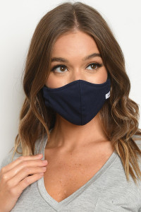 S19-2-2-FMNAVY813 NAVY REUSABLE FACE MASK FOR ADULT/5PCS