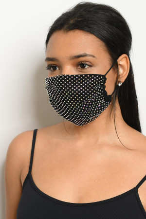 S18-1-1-MSKM1032 BLACK STONE REUSABLE MASK FOR ADULT/12PCS