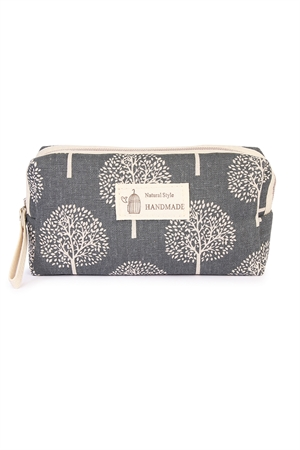 S2-9-5-J122-3 TREE PRINT COSMETIC POUCH/6PCS