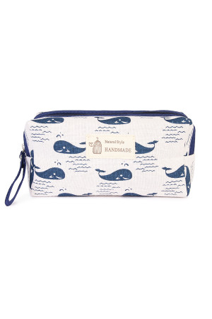 S4-6-1-AJ122-5 WHALES COSMETIC POUCH/6PCS
